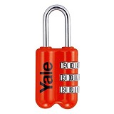 YALE Travel Lock [YP2/23/128/1R] - Red - Gembok Kombinasi